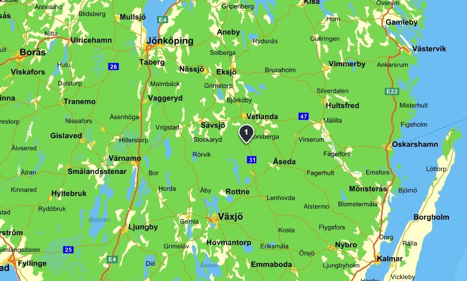 Karta Korsberga